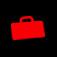 Valise rouge sur fond noir